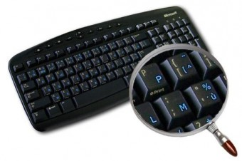 Qwerty Transparant Blauw