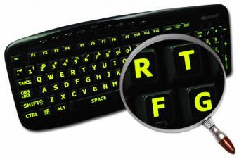 Qwerty Lichtgevende Grote Letters